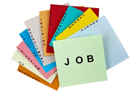 set of tasks which constitute the major job search plan Stock Photo - 12392873