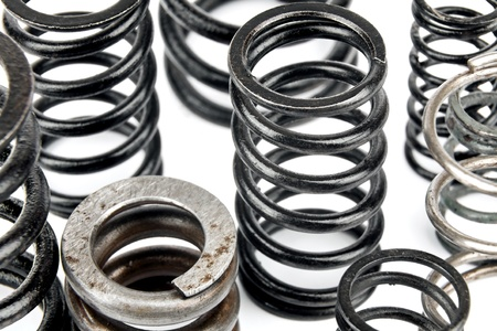 various metal springs are used in automotive photo