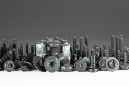automotive industry: various screw connection used in the automotive industry Stock Photo