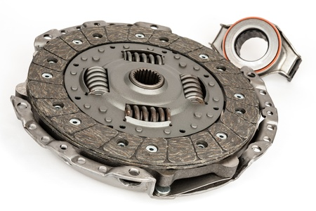thrust: pressure plate, together with the plate lining and release thrust bearing is a complete clutch Stock Photo