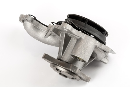 water pump: water pump in the engine forces the liquid flow in the cooling system