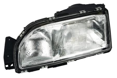 auto glass: new automobile headlight dipped beam and main beam Stock Photo