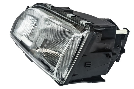 new automobile headlight dipped beam and main beam photo