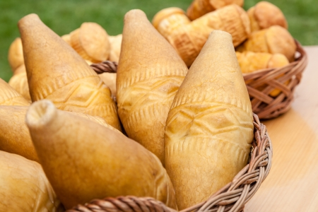 tatra: traditional smoked cheese produced in the region polish Tatra mountain. this cheese is called oscypek
