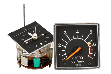 rotations: Automobile clock and tachometer as spare parts