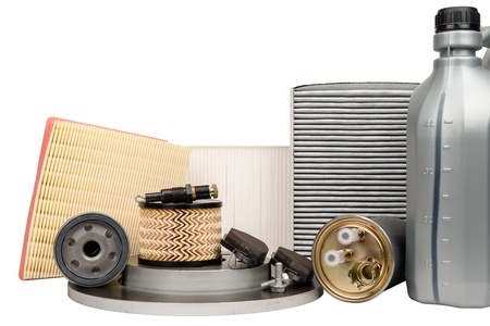 necessary: Set of necessary parts for vehicle service
