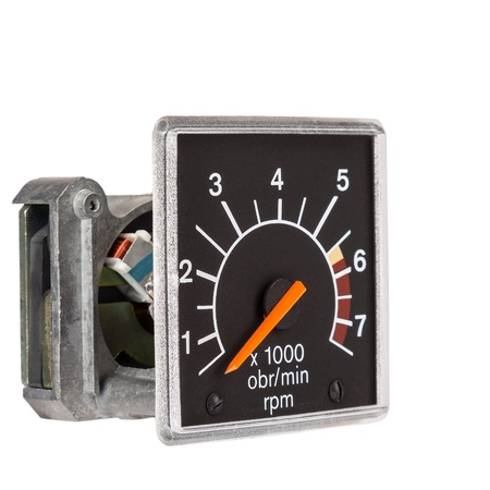 rotations: Tachometer before mounting the into the dashboard of the vehicle Stock Photo