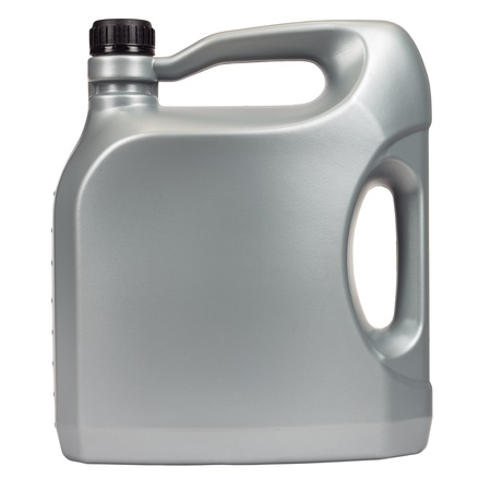 petrol can: Engine oil in a typical five liter container