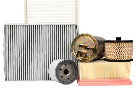filtraci�n: Varios filtros automotrices necesarios para el servicio de veh�culo