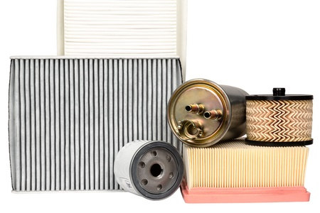 Various automotive filters necessary for vehicle service photo