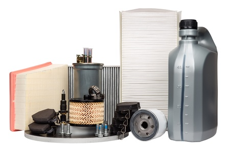 Various car parts necessary for vehicle service photo