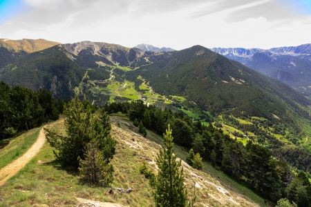 tourism in andorra: Green forested mountains and beautiful valleys through such a wonderful areas lead hiking trails in Andorra