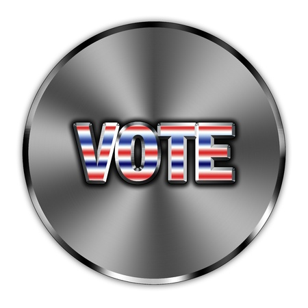 Word vote, encouragement presented as a button Stock Photo - 15907613