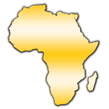 Outline map of Africa covered with gradient photo