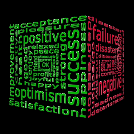 Success and failure opposites shown in the form of a cloud of words in two colors Stock Photo - 16407565