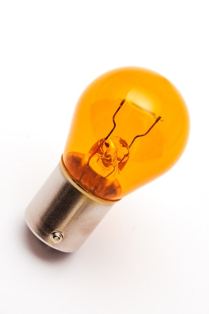 The orange car bulb used for indicator lamps in case install the transparent covers Imagens