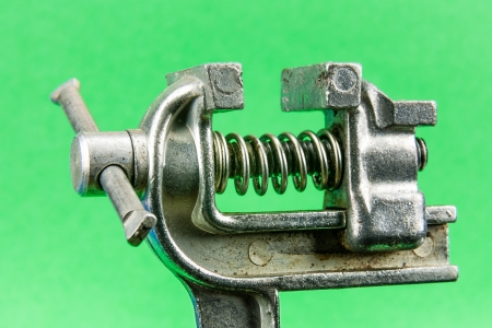 Old small vise for working on small and light elements Stock Photo - 16921152