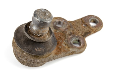 Useless, worn out and rusty ball joint photo