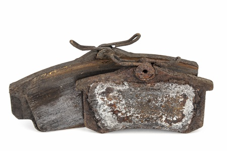 worthless: Very worn out brake pads threatening road safety