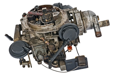 worthless: Used carburetor from the fuel supply system of gasoline engine
