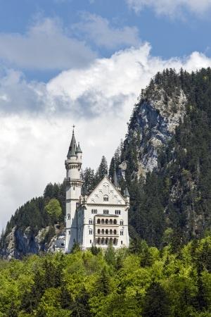 burg: FUSSEN - MAY 18: Neuschwanstein Castle originally called Neue Burg Hohenschwangau built in 1869  for King Ludwig II Wittelsbach in southwest Bavaria in Germany on May 18, 2013