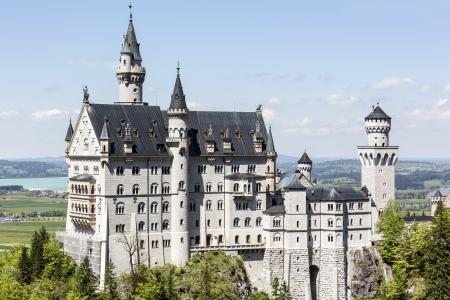 FUSSEN - MAY 18: Neuschwanstein Castle originally called Neue Burg Hohenschwangau built in 1869  for King Ludwig Friedrich Wilhelm von Wittelsbach in Bavaria in Germany on May 18, 2013 Editorial