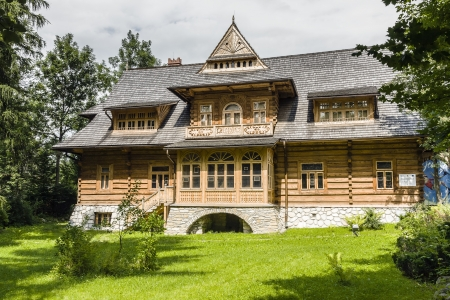 ZAKOPANE - JULY 17: Villa Oksza built in Zakopane style of wood for Vincent Korwin-Kossakowski in the years 1894-1895 by project of Stanislaw Witkiewicz on July 17, 2013