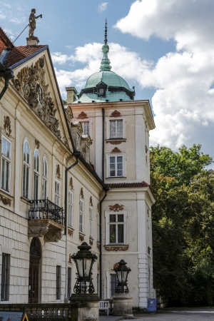 NIEBOROW - AUGUST 24: The Palace, built in 1685-1697, designed by Tylman van Gameren, from 1774 to 1945 in the hands of the Radziwill family, at present museum in Nieborow, Poland on August 24, 2013