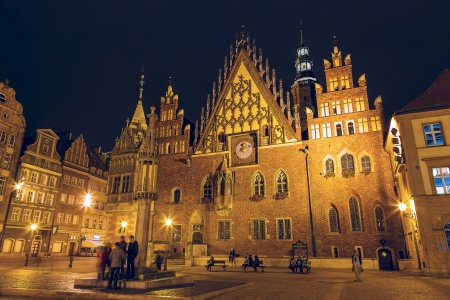 WROCLAW - OCTOBER 06  Old Town Hall, the late-Gothic building was built by over 250 years from end of the XIII up to the XVI century, nowadays City Museum in Wroclaw in Poland on October 06, 2013