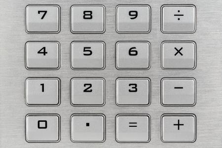teclado numérico: Teclado con números y operaciones matemáticas