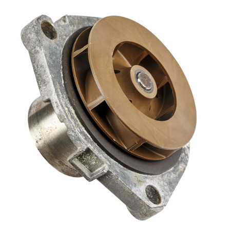 impeller: Damaged water pump dismantled from the vehicle engine cooling system