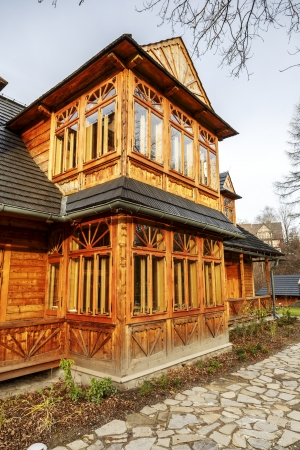 lived here: ZAKOPANE - NOVEMBER 16  Atma House, built in the late 19th century by Jozef Kasprus Stoch, the composer Karol Szymanowski lived here from 1930 to 1936, in Zakopane in Poland on November 16, 2013