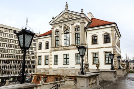 WARSAW - JANUARY 04: Ostrogski Palace of the 17th century, burnt down by Germans during World War II, rebuilt in 1953, nowadays the Fryderyk Chopin Museum, in Warsaw in Poland on January 04, 2014 Stock Photo - 24958080