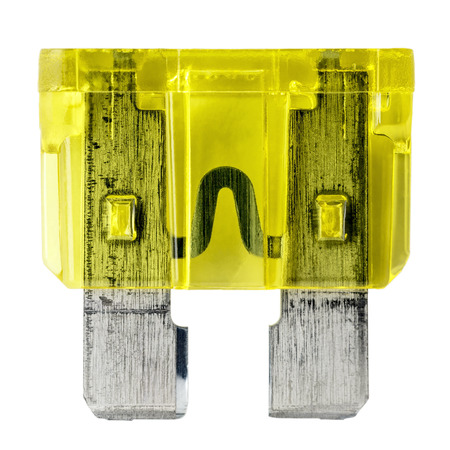 car fuse: Car fuse, shown in close up isolated on white background