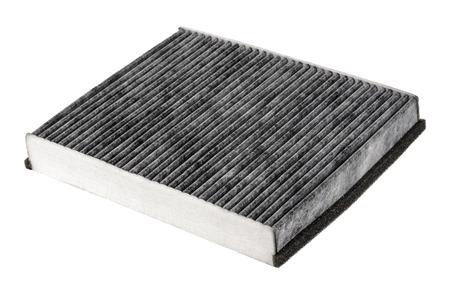 papel filtro: Carbono filtro de aire de cabina, que normalmente se utiliza en los coches para la purificación del aire suministrado al compartimiento de pasajeros Foto de archivo