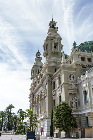 garnier: MONTE CARLO, MONACO - MAY 12, 2014  Opera house in Monte Carlo, built in 1893 by French architect Charles Garnier