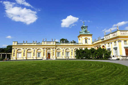 WARSAW, POLAND - AUGUST 20, 2014: Royal Palace built for King Jan III Sobieski in the years 1681-1696