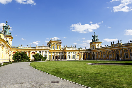 WARSAW, POLAND - AUGUST 20, 2014: Royal Palace built for King Jan III Sobieski in the years 1681-1696, repository of the country s royal and artistic heritage, National Historic Monuments