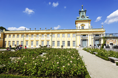 sobieski: WARSAW, POLAND - AUGUST 20, 2014: Royal Palace built for King Jan III Sobieski in the years 1681-1696, repository of the country s royal and artistic heritage, National Historic Monuments