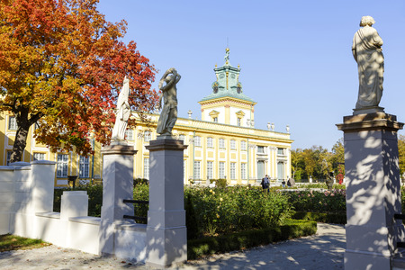WARSAW, POLAND - OCTOBER 04, 2014: Royal Palace built for King Jan III Sobieski in the years 1681-1696, repository of the country s royal and artistic heritage, National Historic Monuments