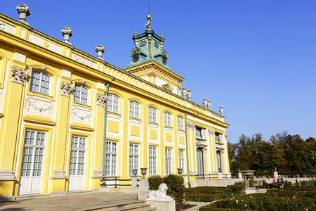 sobieski: WARSAW, POLAND - OCTOBER 04, 2014: Royal Palace built for King Jan III Sobieski in the years 1681-1696, repository of the country s royal and artistic heritage, National Historic Monuments