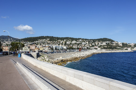 azure coast: NICE, FRANCE - MAY 18, 2014: Mont Boron, suburban of Nice located on the mountain that rises up on the eastern edge of Nice, one of the oldest settlements on the Azure Coast
