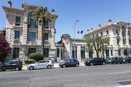 academie: NICE, FRANCE - MAY 18, 2014: Lycee Massena, housed in a former convent of Augustinians, built in 1623, High School officially named Lycee Massena in 1963 in memory of Andre Massena, Marshal of France Editorial