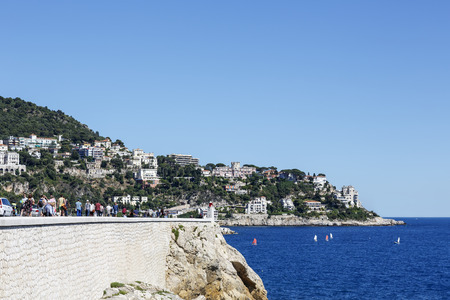 boron: NICE, FRANCE - MAY 24, 2014: Mont Boron, suburban of Nice located on the mountain that rises up on the eastern edge of Nice, one of the oldest settlements on the Azure Coast