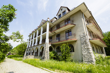 holiday home: ZAKOPANE, POLAND - JUNE 09, 2015: Holiday Home Bristol with an area of 6 thousand sqm. later changed to hotel, built in the early 20th century Editorial