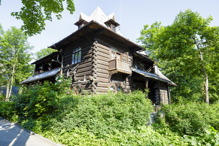 architectural tradition: ZAKOPANE, POLAND - JUNE 12, 2015: Villa named Balamutka, built of wood approx. 1901, listed in the municipal records of historic architecture