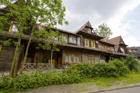 approx: ZAKOPANE, POLAND - JUNE 26, 2015: The villa called Mazowsze made of wood approx. 1897 years according to the project Z. Dobrowolski