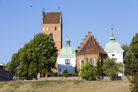 visitation: WARSAW, POLAND - AUGUST 18, 2015: Church of the Visitation of the Blessed Virgin Mary, built in 1411 in the Gothic style, damaged during World War II, was rebuilt in 1947-1966 Editorial