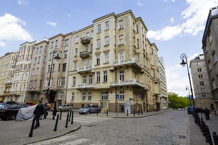townhouse: WARSAW, POLAND - MAY 03, 2015: The Townhouse was built in the early 20th century, renovated in 2003-2004, located at Smolna Street Editorial