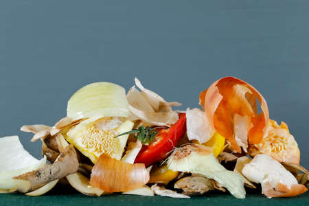 Residual vegetables. Such organic waste from food and other household waste is material for the production of compost.